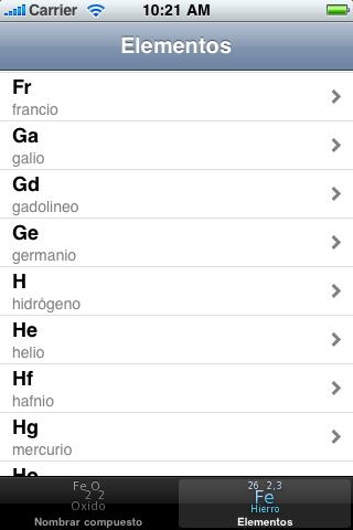 Image of Nomenclatura química inorganica for iPhone